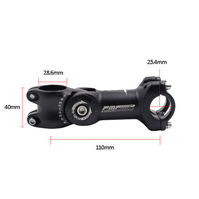 Negro Mtb Bicicleta Montaña ángulo ajustable potencia Elevador Manillar 2 Talla