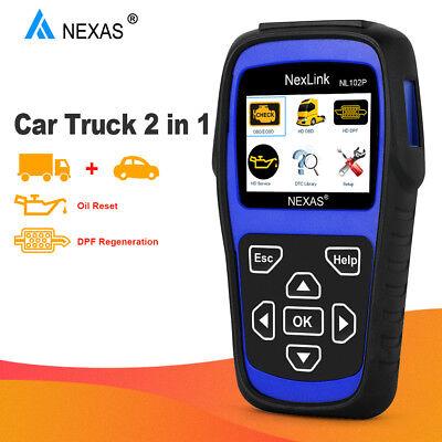 Diesel Gas Heavy Duty Truck HD ABS DPF Oil Reset ESP EPS OBD2 Diagnostic Scanner 2