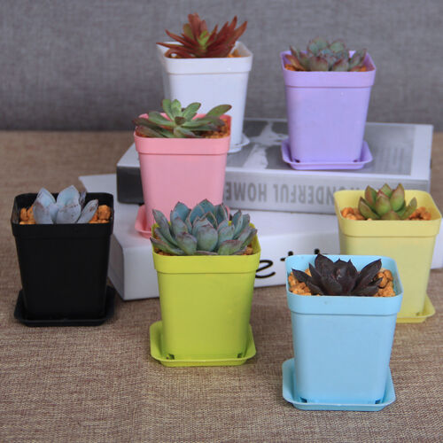 7pcs pot de fleur cache pot plante plastique jardin balcon for Decoration jardin balcon