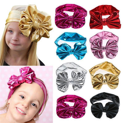 Baby Toddler Girls Kids Bunny Rabbit Bow Knot Turban Headband Hair Band Headwrap 10