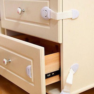1/5/10X Child Infant Baby Kids Drawer Door Cabinet Cupboard Toddler Safety Locks 7