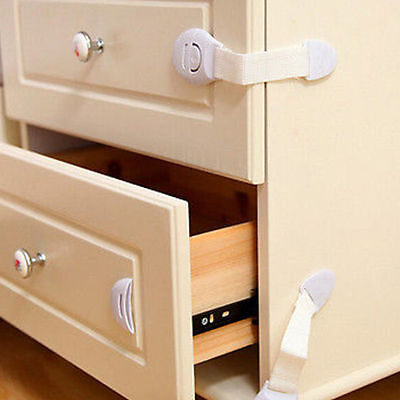 10Pcs Baby Kids Child Adhesive Safety Lock For Cabinet Door Drawers Refrigerator 9