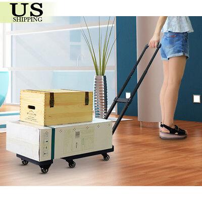 440lbs Platform Cart Dolly Folding Moving Luggage Push Hand Truck Heavy Duty