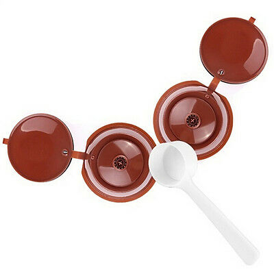 Refillable Reusable Coffee Capsule Pods Cup for Nescafe Dolce Gusto Machine AT