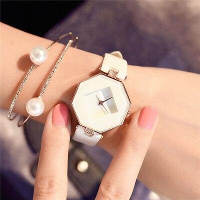 New Fashion Women 's Leather Band Analog Quartz Diamond Wrist Watch Watches 2