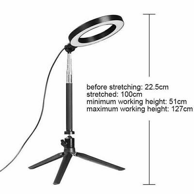 LED Ring Light Dimmable 5500K Lamp Photography Camera Photo Studio Phone Video 12