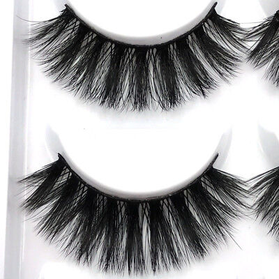 3D 5 Pairs Mink Natural Thick False Fake Eyelashes Eye Lashes Makeup Extension 8