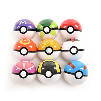 9Pokemon Pokeball up 7cm Cartoon Toy Plastic BALL Pikachu Monster FiguresBGS 2