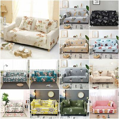 1/2/3 Sofa Covers Couch Slipcover Stretch Elastic Fabric Settee Protector Fit UK 3