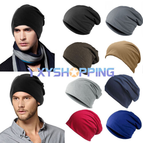 8fef53cfd6e Men Women Cotton Hip Hop Slouchy Hat Casual Ski Winter Warm Cap Baggy  Beanie Hat 2 2 of 8 ...