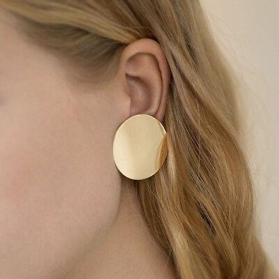 1 Pair Women Multi Style Circle Large Big Linked Hoop Dangle Long Earrings Studs 10