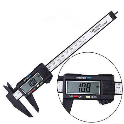 "Digital Electronic Gauge Plastic Steel Vernier Caliper 150mm 6"" Micrometer US ha"
