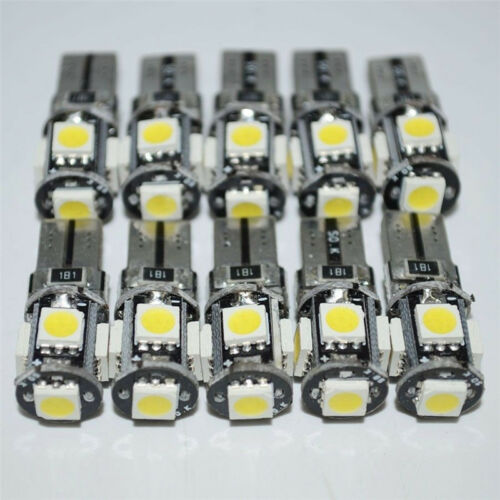 10x T10 168 194 W5W White Led Canbus Error Free 5 SMD Car Side Wedge light Bulb 2