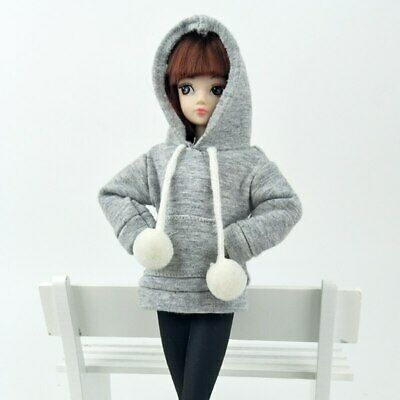 """Gray Sweatshirt Coat For 11.5"""" Doll Clothes Outfits Pants Canvas Shoes 1/6 Toy 7"""