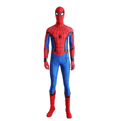 Spiderman Spider-Man:Homecoming Cosplay Costume Halloween full suit with shoes 3