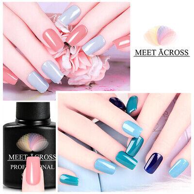 MEET ACROSS Nail Art Gel Color Polish Soak-off UV/LED Manicure DIY Varnish 7ml 7