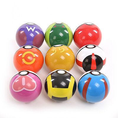 9Pokemon Pokeball up 7cm Cartoon Toy Plastic BALL Pikachu Monster FiguresBGS 7