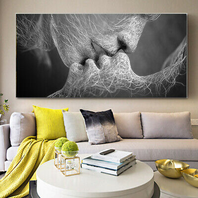 Abstract Wall Art Painting Love Kiss Poster Wall Pictures Print Home Decoration 6