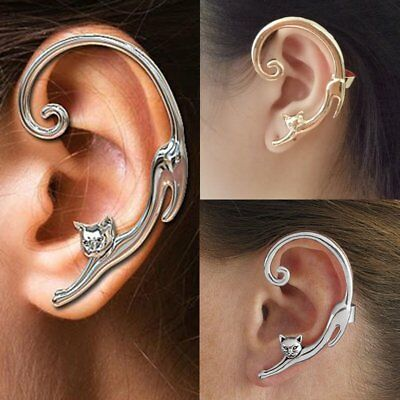 1pc Fashion Cat Clip Ear Cuff Stud Women's Punk Wrap Cartilage Earring Jewelry