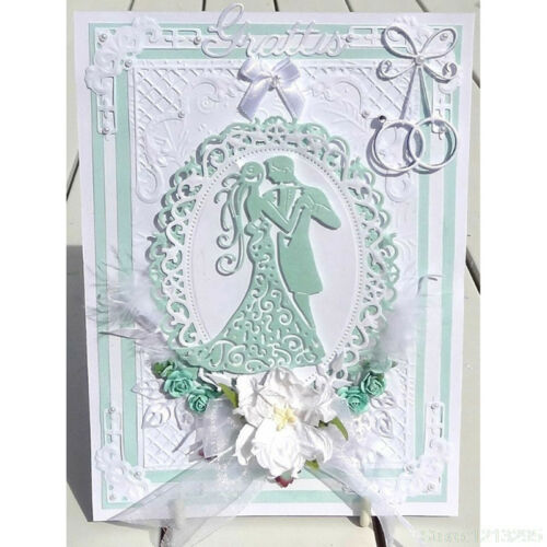 Romantic Dancing Lovers Wedding Cutting Dies For Scrapbooking Card Craft DecorPD 2