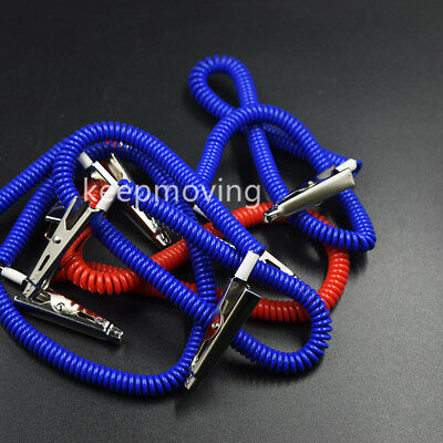 20 Pcs Dental Patient Bib Clips Chains Napkin Holder Flexible Coil Plastic 6