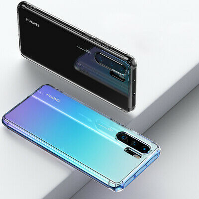 For Huawei P30 Pro Mate 20 Transparent Airbag Shockproof Silicone Case Cover 9