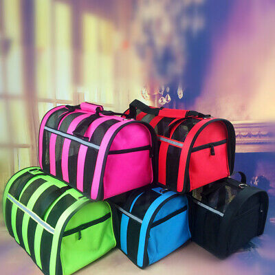 Pet Carrier Soft Sided Cat / Dog Comfort Travel Tote Bag Airline Approved S/M/L 3