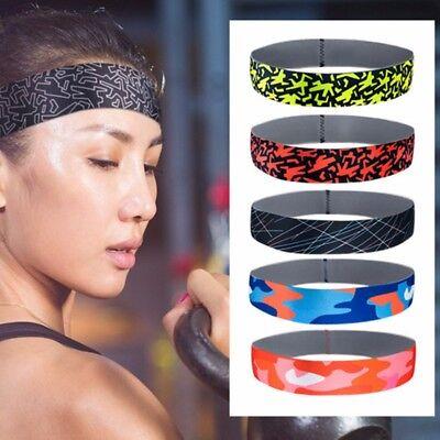 Womens Mens Sports Sweat Sweatband Headband Yoga Gym Fitness Stretch Head Band 11