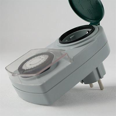 analoge Tages-Zeitschaltuhr, Aussen IP44, max 3500W 230V Schaltuhr Zeitschalter 3