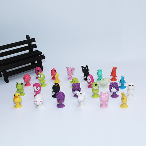 10pcs Mini Animal Action Figure Sucker Cup Cartoon Monster Child Kids Toys w 10