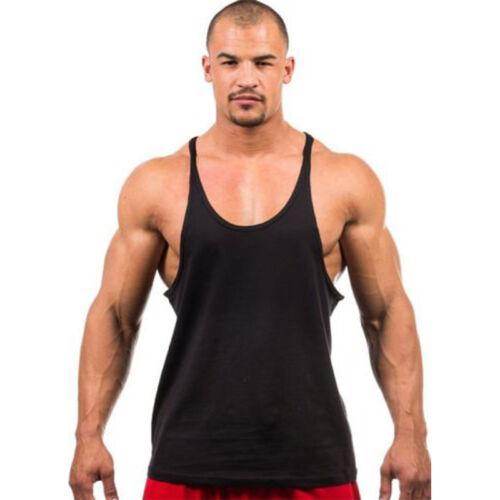 9f3cfc1ba546d Men s Stringer Bodybuilding Tank Top Gym Singlet Y-Back Muscle Racer-back  Vest 7 7 of 9 ...