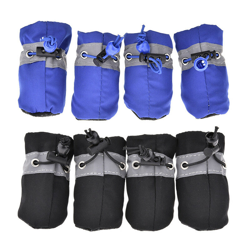 4Pcs Waterproof Pet Non-slip Shoes Winter Dog Cat Snow Boots Warm Puppy Booties 3