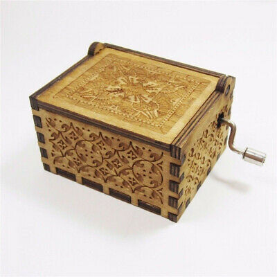 Harry Potter Music Box Engraved Wooden Music Box Interesting Toys Xmas Gifts US 6