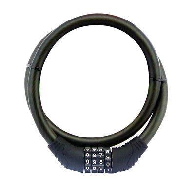 Bike Cycle Lock Resettable 4 Digit Code 12mm x 800mm Cable Combination Security