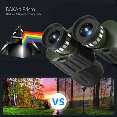 60x 50 Zoom Day Night Vision Outdoor HD Binoculars Hunting Telescope + Case Much 6