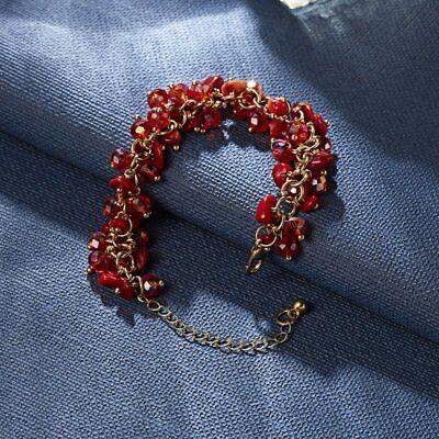 Natural Crystal Stone Chipped Raw Bracelet Women Quartz Bangle Lucky Jewelry New 11