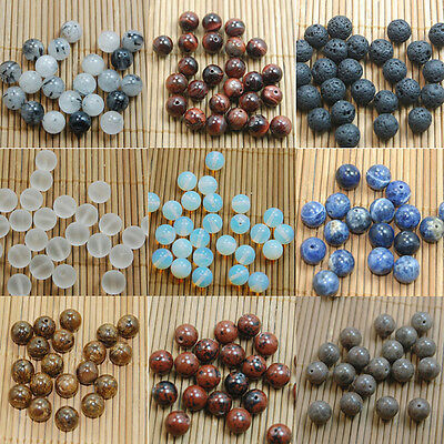 Natural Gemstone Round Spacer Loose Beads 4mm 6mm 8mm 10mm Assorted Stones DIY 11