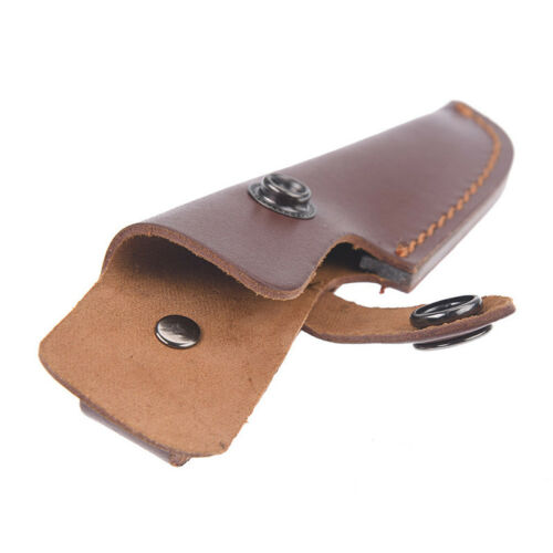 18.5cm x 4cm knife holder outdoor sheath cow leather for pocket knife pouch STDE