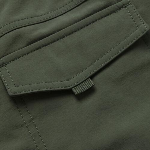 Men's Thermal Winter Pants Fleece Lined Elasticated Work Cargo Combat Trousers 6