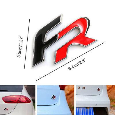 Insignia Seat FR, en Aluminio, Ibiza, Leon, Cupra, Toledo, Emblem, Emblema FR 2