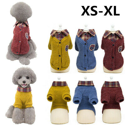 2019 New Puppy Pet Dog Clothes Hoodie Winter Warm Sweater Coat Costumes Apparel 6