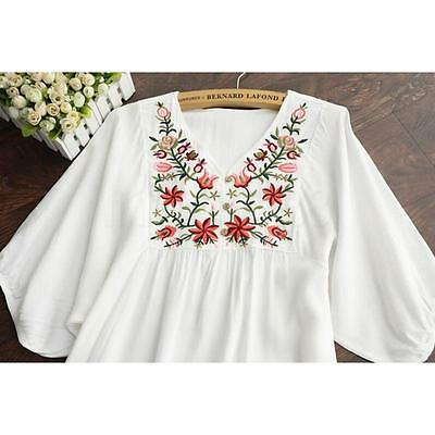 Hot Women Ethnic Mexican Floral Boho Peasant Dress Lady Materity Pregnant Dress! 8