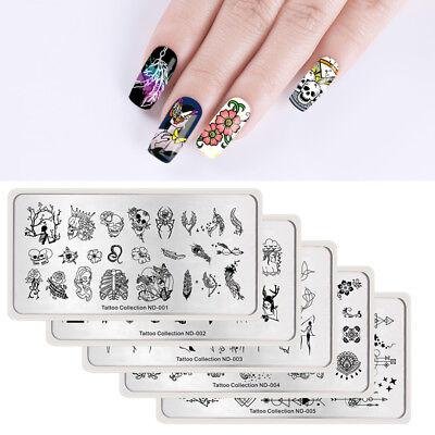 BORN PRETTY Nail Image Stamping Plates Nail Art Stamp Stencil Template Summer 5