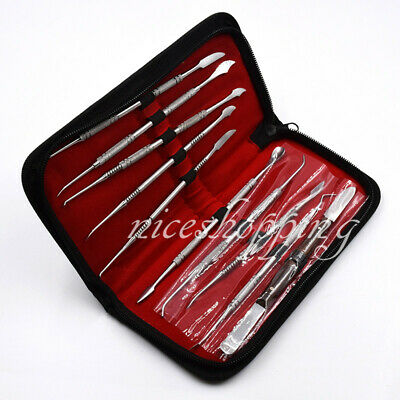 Dental Oral Care Lab Stainless Steel Kit Wax Carving Kits Instrument Tools Set 2