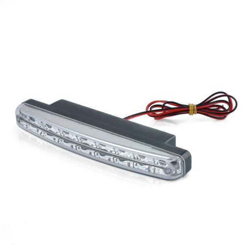 Car Light 8LED DRL Fog Driving Daylight Daytime Running LED White Head Lamp 5