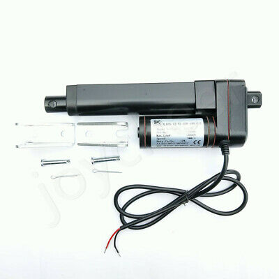 750-3000N Electric Linear Actuator Cylinder Lift Stroke 50-600mm DC12V 24V Black 2