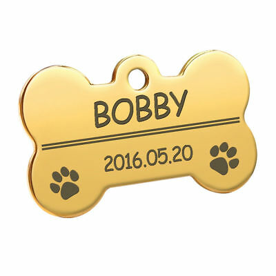 Bone Shape Custom Personalized Engraved Dog Tag Pet Cat Name ID Tag Phone Tag 10