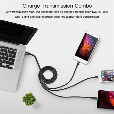 Universal 3 in1 USB Multi Fast Ladekabel Kabel Für Samsung Galaxy S8 S9 S8 S9+ 5