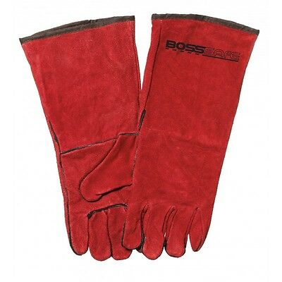 "6 Left Handed Welding Gloves ""RED LEFTIES"" Top Quality Left hand Welders Gloves"