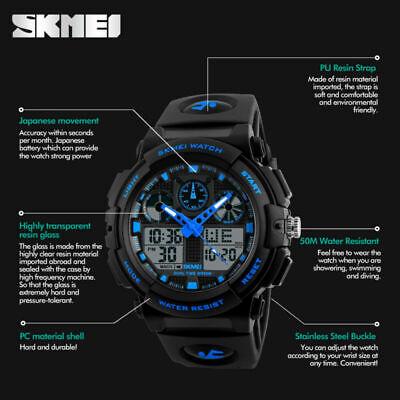 Men's Date Quartz Military Shock Digital Tactical Sport Fashion Wrist Watch US 7